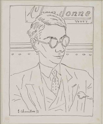 Portrait de Gilbert Trolliet par Emile Chambon, 1931.