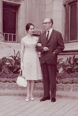 Gilbert et Nicole Trolliet le jour de leur mariage, en 1963.