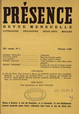 N° 1,février 1935