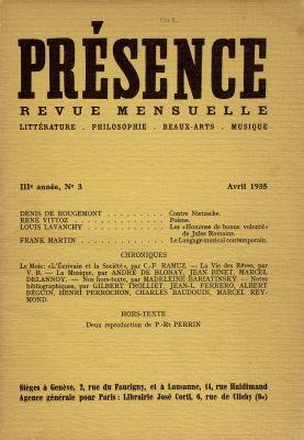 N° 3, avril 1935