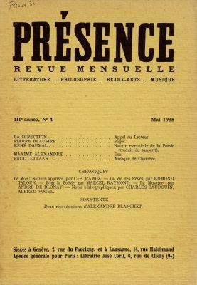 N° 4, mai 1935
