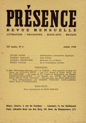N° 6, juillet 1935