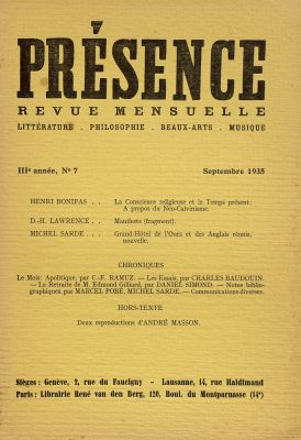 N° 7, septembre 1935