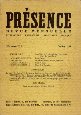N° 8, octobre 1935