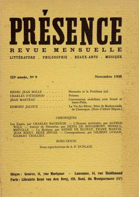 N° 9, novembre 1935