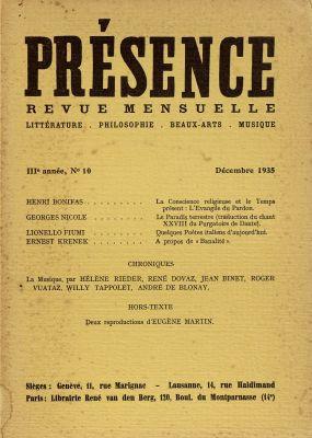 N° 10, décembre 1935