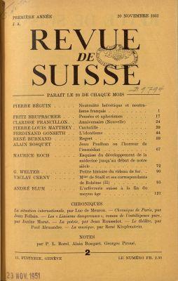 N° 2, 20 novembre 1951