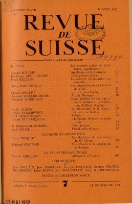 N° 7,30 avril 1952