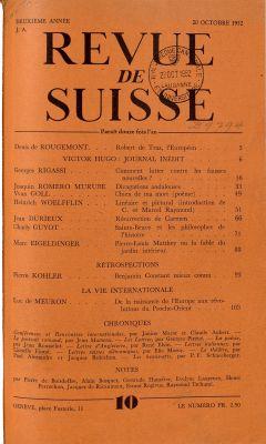 N° 10, 20 octobre 1952