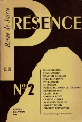 N° 2, printemps 1956