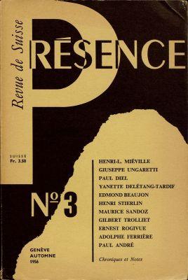 N° 3, automne 1956