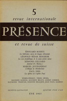 N° 5, été 1957