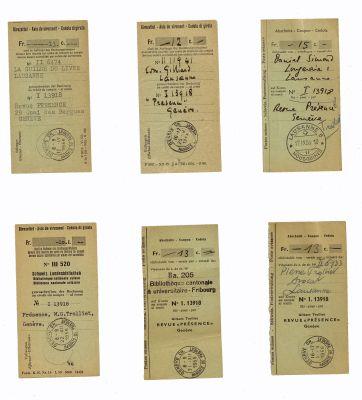 Quelques abonnés à Présence, 1955-1958