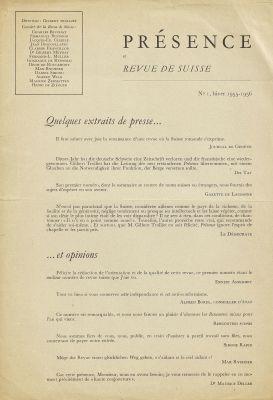 Présence 1956