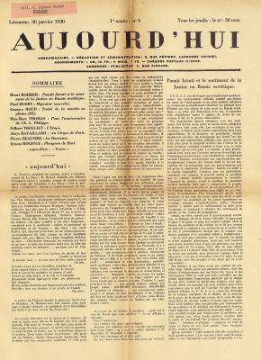 N° 9, 30 janvier 1930