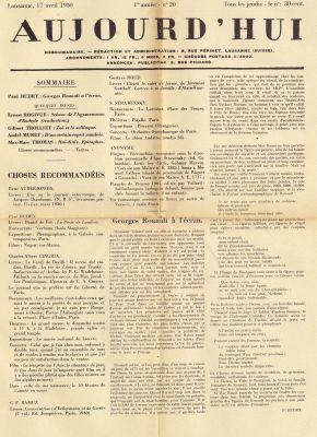 N° 20, 17 avril 1930