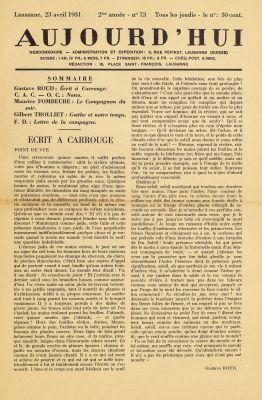 N° 73, 23 avril 1931