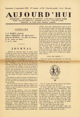 N° 92, 3 septembre 1931