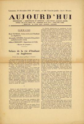 N° 106, 10 décembre 1931