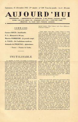 N° 109,31 décembre 1931